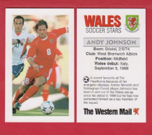 Wales Andy Johnson West Bromwich Albion